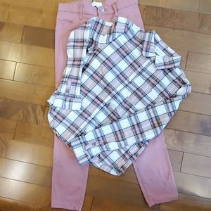 Children's place size 10 girl pant and shirt